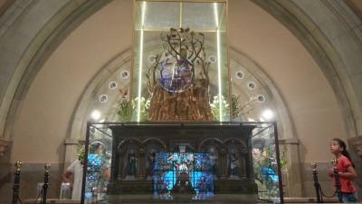 Parte posterior de la Virgen de Valvanera